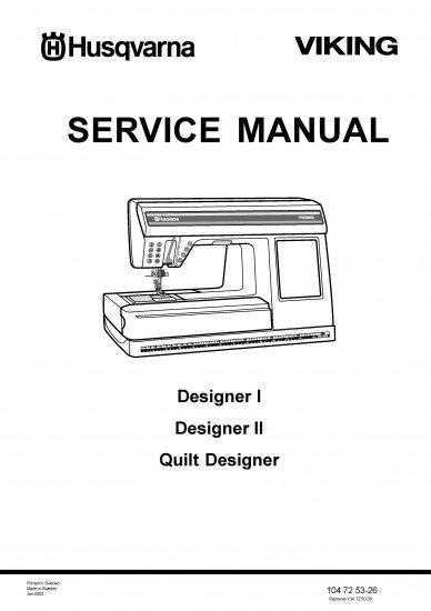 VIKING HUSQVARNA Designer I Service Manual & Parts List