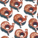 Turkey Eyelets - Embellishments Scrapbook Paper Art Craft Holiday Cards Tags Piecing Supplies