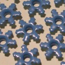 Dark Blue Snowflake Eyelets - Embellishments Scrapbook Paper Art Craft Holiday Cards Tags Supplies