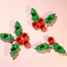 Holly & Berry Eyelets - Embellishments Scrapbook Paper Art Craft Holiday Cards Tags Piecing Supplies