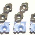 Blue Train with Smoke Eyelets - Embellishments Scrapbook Paper Art Craft Holiday Cards Tags Supplies