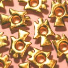 Gold Angel Eyelets - Embellishments Scrapbook Paper Art Craft Holiday Cards Tags Piecing Supplies