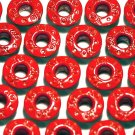 Round XO Red Eyelets - Embellishments Scrapbook Paper Art Craft Holiday Cards Tags Piecing Supplies