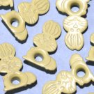 Yellow Rabbit Eyelets - Embellishments Scrapbook Paper Art Craft Holiday Cards Tags Piecing Supplies