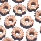 Tan Sea Shell Eyelets - Embellishments Scrapbook Paper Art Craft Holiday Cards Tags Piecing Supplies