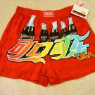 NEW Mens Coca-Cola COKE Boxers LARGE Sleep Shorts L 36-38