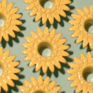 Lemon Yellow DAISY Eyelets - Embellishment Scrapbook Paper Art Craft Holiday Card Tag Piecing Supply