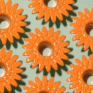 Orange DAISY Eyelets - Embellishments Scrapbook Paper Art Craft Holiday Cards Tags Piecing Supplies