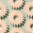 White DAISY Eyelets - Embellishments Scrapbook Paper Art Craft Holiday Cards Tags Piecing Supplies