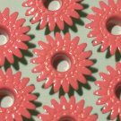 Pink Tutu DAISY Eyelets - Embellishments Scrapbook Paper Art Craft Holiday Cards Tags Piecing Supply