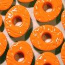 EASTER EGG Eyelets Bright Orange - Embellishment Scrapbook Paper Art Craft Holiday Card Tag Supplies