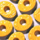 EASTER EGG Eyelets Bright Yellow - Embellishment Scrapbook Paper Art Craft Holiday Card Tag Supplies