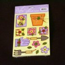 """Small """"Garden Time"""" Cute Cut Out's - Embellishments Arts Crafts Scrapbooking Paper Tags Cards Supply"""