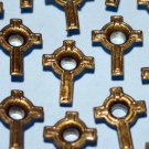 Gold Cross Eyelets - Embellishments Scrapbook Paper Art Craft Holiday Cards Tags Piecing Supplies