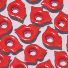 Red Lips Eyelets - Embellishments Scrapbook Paper Art Craft Holiday Cards Tags Piecing Supplies
