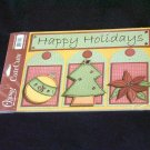 "Large ""Happy Holidays"" Cute Cut Out's - Embellishments Arts Crafts Scrapbook Paper Tags Cards Supply"