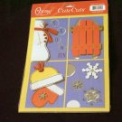 """Large """"Snow Fun"""" Cute Cut Out's - Embellishments Arts Crafts Scrapbook Paper Tags Cards Supply"""