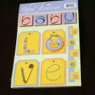 """Large """"Baby Love"""" Cute Cut Out's - Embellishments Arts Crafts Scrapbook Paper Tags Cards Supply"""