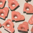 Double Heart Pink Eyelets - Embellishments Scrapbook Paper Art Craft Holiday Card Tag Piecing Supply