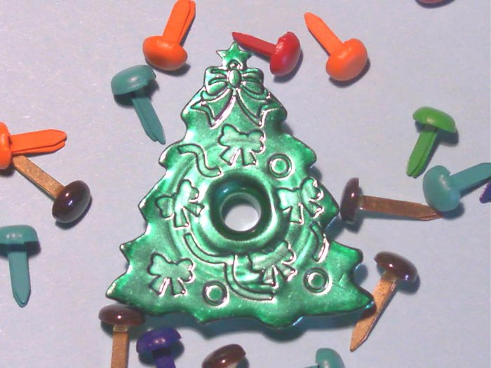 Christmas TREE Eyelets - Embellishments Scrapbook Paper Arts Crafts Holiday Cards Tag Piecing Supply