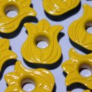 Yellow TULIP Eyelets - Embellishments Scrapbooking Paper Arts Crafts Holiday Cards Tags Supplies