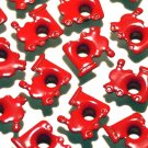 Red TRAIN Eyelets - Embellishments Scrapbooking Paper Arts Crafts Holiday Cards Tags Supplies