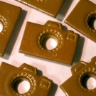 Brown CAMERA Eyelets - Embellishments Scrapbooking Paper Arts Crafts Holiday Cards Tags Supplies