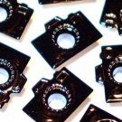 Black CAMERA Eyelets - Embellishments Scrapbooking Paper Arts Crafts Holiday Cards Tags Supplies