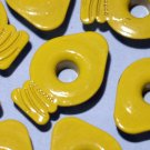 Yellow LIGHT BULB Eyelets - Embellishments Scrapbooking Paper Arts Crafts Holiday Cards Tags Supply