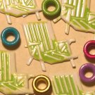 Brads Green Beach Chair Pool Eyelet Card Embellishments