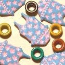 Brads Blue Swimsuit Girls Pool Eyelets Embellishments