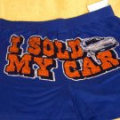 NEW Mens SOLD MY CAR 4 GAS $ Boxer LARGE Shorts L 36-38