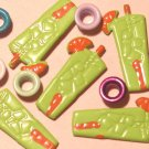 Brads Green Tropical Drink Party Tag Eyelets Scrapbook