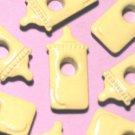 Baby Bottle Yellow Infant Eyelets Stamp Embellishments