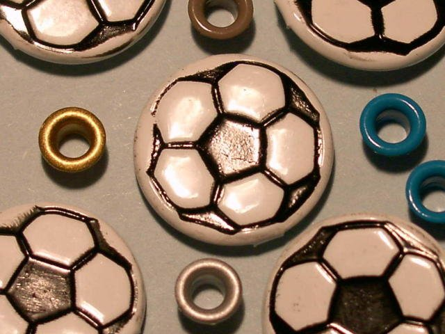 Brads Soccer Balls Sport Ball Eyelet Card Embellishment