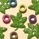 Brads Lt Green Maple Leaf Leaves Eyelets Embellishments