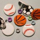 Brads Mix Balls Sports Ball Eyelets Card Embellishments