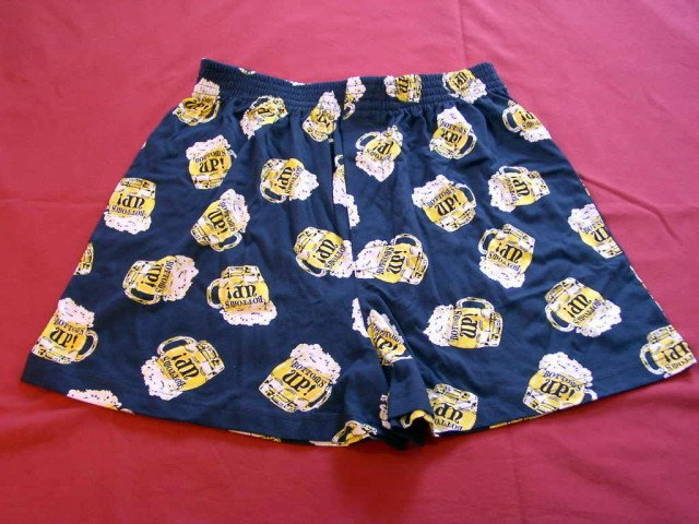 NEW Mens BOTTOMS UP BEER Boxers XL Shorts X-LARGE 40-42