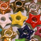 STAR Eyelets - 100 Embellishments Scrapbooking Paper Art Craft Holiday Cards Tags Piecing Supply