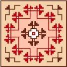 """9126 Southwest Needlepoint Canvas 7"""" x 7"""""""