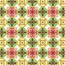 "6092 Geometric Needlepoint Canvas 7"" x 7"""