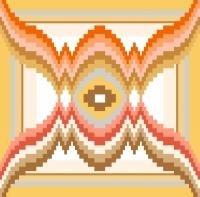 "6108 Geometric Needlepoint Canvas 7"" x 7"""