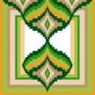 "6106 Geometric Needlepoint Canvas 7"" x 7"""
