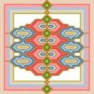 "6111 Geometric Needlepoint Canvas 7"" x 7"""