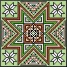 "9133 Geomtric Needlepoint Canvas 7"" x 7"""