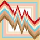 "6110 Geometric Needlepoint Canvas 7"" x 7"""