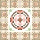 "6094 Oriental Needlepoint Canvas 7"" x 7"""
