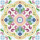 "6095 Geomtric Needlepoint Canvas 7"" x 7"""