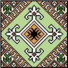 "9124 Geometric Needlepoint Canvas 5"" x 5"""
