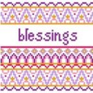 """6044 Blessings Needlepoint Canvas 5"""" x 5"""""""